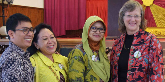 Professor Julie Bines and Indonesian colleagues