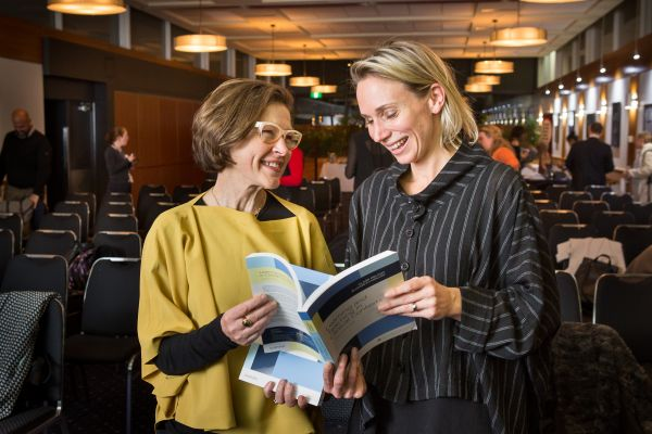 Clare Delany and Elizabeth Molloy at book launch