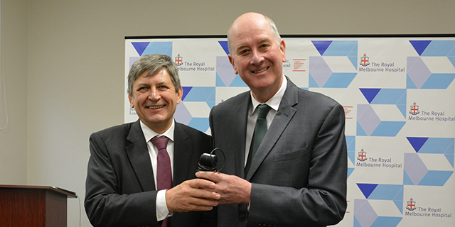 Professor Alistair Royse with The Hon. Richard Wynne