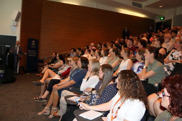 Professor John Prins and audience