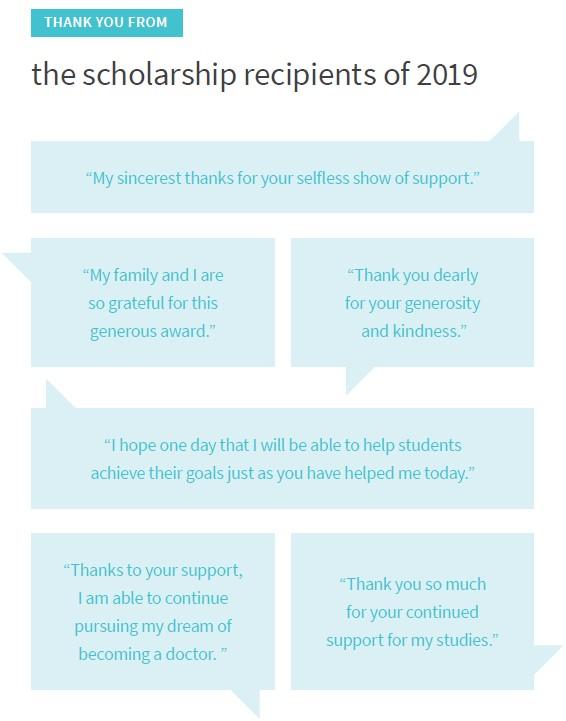 Celebrating MMS scholarships