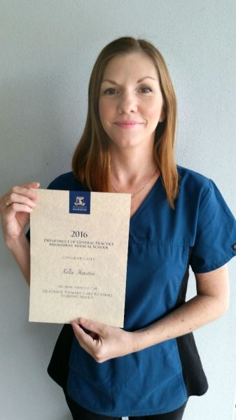 First Class Honours for Primary Care Nurse  Melbourne Medical School