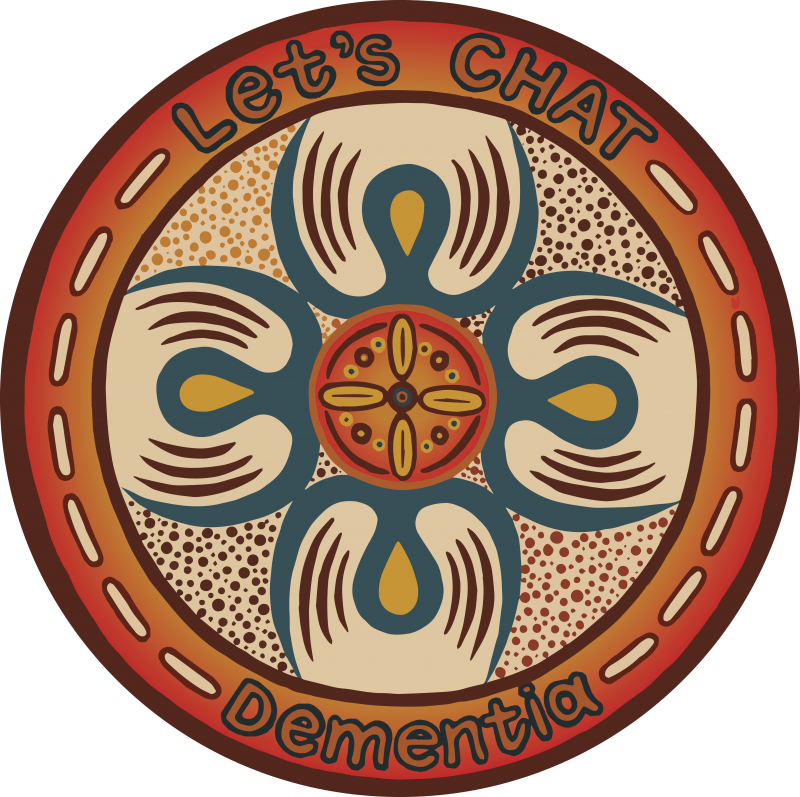 Let's CHAT Dementia artwork by Indigenous artist, Sherry Johnstone