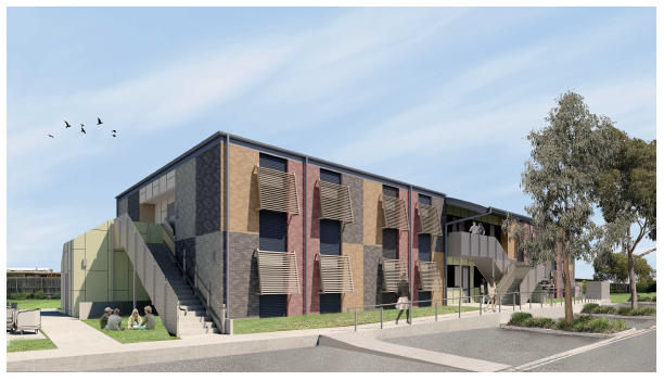 3D view of new student accommodation