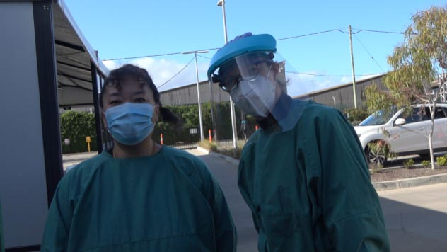 Karen and Ruby in PPE