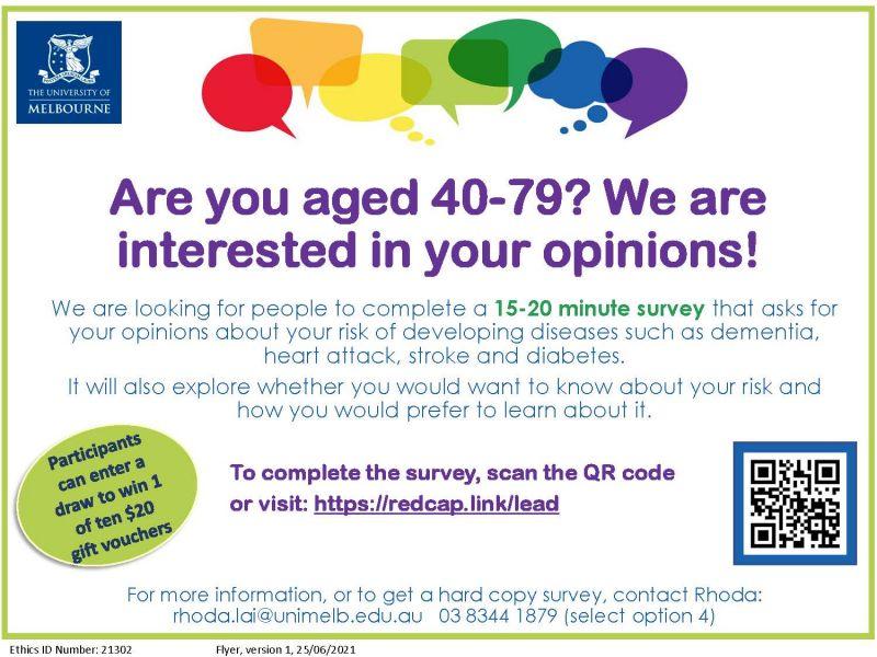 LEAD survey study flyer
