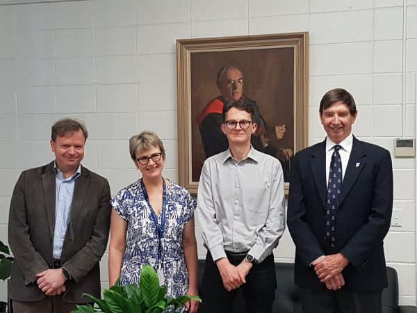 L-R: Professors Terry O'Brien, Jo Douglass, Stephen Rogerson, Graham Brown