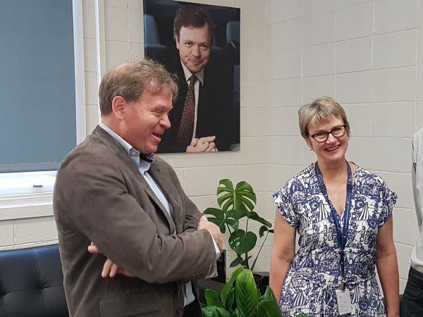 L-R: Professor Terry O'Brien and Professor Jo Douglass